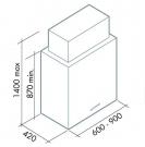 ΑΠΟΡ/ΡΑΣ LAGUNA ISOLA 60 (Y:75) T80 INOX/GLASS