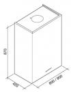 ΑΠΟΡ/ΡΑΣ LAGUNA 60 (Υ:87) T80 INOX/GLASS